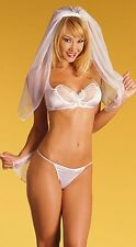 Sexy Bride Wedding Night Costume Hen Fancy Dress Honeymoon One Size
