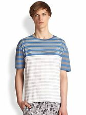 Marc by Marc Jacobs Bailey Stripe Cotton Tee in Wicken white/multi Medium NWT