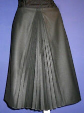 Agnes b Paris pleated black skirt. Size 44.