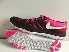 WOMENS NIKE FREE TR FOCUS FLYKNIT NEW SIZE 12 RUNNING BURGUNDY WHITE PINK