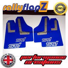 bavettes SUBARU IMPREZA Hayon 08-14 rallyflapZ 4mm PVC Bleu STi style Blanc