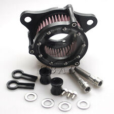 Black RC Air Cleaner Intake Filter System Kit For HD Sportster XL 883 1200 04-15