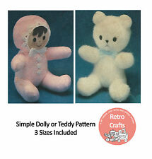 Mini Doll and Bear Sewing Pattern - Toy Pattern   -  Pattern Copy