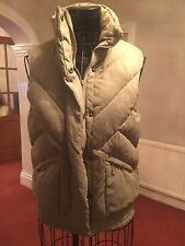 Ladies Khaki Green Sexy Duffer/ Bomber Jacket/ Gilet By TOP SHOP/ Moto - Size 10