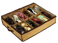12 PAIRS OF SHOES - SHOE ORGANIZER CLOSET  / UNDER BED STORAGE - AS ON TV