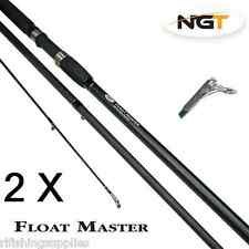 2 x NGT FLOATMASTER FLOAT RODS 12FT 3 PC MATCH QUIVER ROD CARP FISHING SCREW TIP