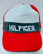 Vintage 90's Tommy Hilfiger Red White Blue Baseball Cap Hat Adjustable