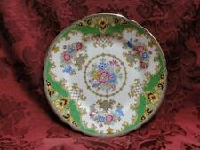 Shelley Sheraton Green, Floral, Green/Tan Border: Bread Plate (s),  5 7/8""