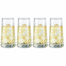 Set of 4 35cl Diamond Hi-Ball Tumblers Bar Drinks Cocktail Drinking Glasses