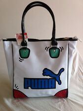 "PUMA ""POP ART"" Special Pop Shopper Tote -BNWT-WHITE /Warhol/Lichtenstein"