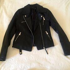 Perfecto Zara noir femme women veste en cuir taille 36/38 S/M Zara