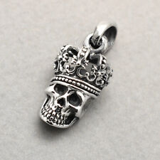 King Skull pendant 925 Sterling Silver Pendant for mens necklaces