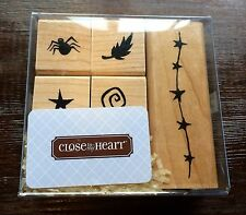New Set of 5 Close to my Heart Rubber Stamps Set Spider, Leaf, Stars