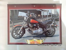 CARTE FICHE MOTO HARLEY DAVIDSON FXRS SUPER GLIDE II 1982