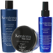 Keraterm Kit Shampoo + Mask + Spray Fanola ® Straightened Treated Hair Stirati