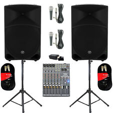 "Mackie THUMP15 Powered 15"" Speakers 2000W w/ Bluetooth Mixer Mics + THUMP15SET7B"