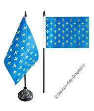 Drapeau de table France Fleur-de-Lys, bleu 10x15cm français