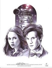 Doctor Who Limited Edition Numbered Artist Signed 8.5x11 Print 11th Dr./Amy Pond