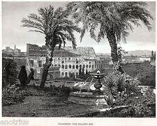 ROMA: Colosseo dal Palatino. Anfiteatro Flavio.Grande Veduta. Stampa Antica.1876