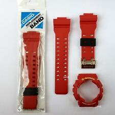 ORIGINAL G-SHOCK REPLACEMENT BAND & BEZEL for GD100RF-4 GD-100RF-4, CRIMSON RED