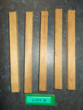 Five Iroko Woodturning Blanks - 175 x 15 x 15mm - Lot 8