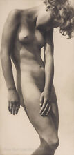 Rudolf Koppitz Photo, posed standing female figure, 1920s