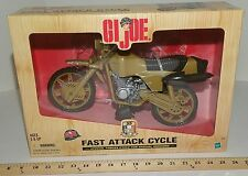 GI Joe 12in Fast Attack Delta Forces Motorcycle 35 Anniversary 1998 MIB