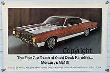 Dealer Promo Showroom Poster 1968 Mercury Marquis-Woody 390/428 Ford Galaxie XL