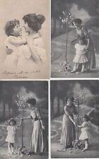 MOTHER AND CHILD MÈRE ET DE L'ENFANT GLAMOUR 46 REAL PHOTO CPA (pre-1940)