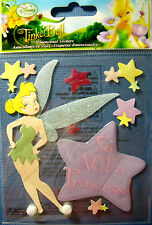 NEW 8 pc Disney TINKERBELL  SO NOT A PRINCESS Tink Fairy  3D Stickers JOLEE'S