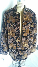 Vintage Quilted Velvet Type Asian Style Jacket - 2X