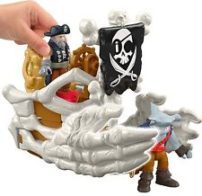 Fisher-Price Imaginext Billy Bones Boat Pirate Action Figure New