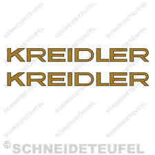 KREIDLER FLORETT SCHRIFTZUG RS,RM AUFKLEBER SET - 10003