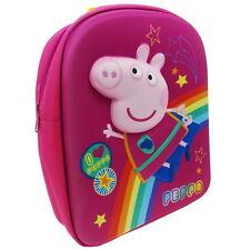 NEW OFFICIAL Peppa Pig Girls / Kids 3D / EVA Backpack / Rucksack / School Bag
