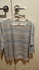 Per Una by Marks & Spencer Grey and blue Shirt Size UK20 Brand new with tags