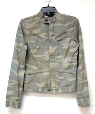 NWOT BCBGMaxazria Women's Camouflage Lightweight Military Zip Up Jacket SMALL
