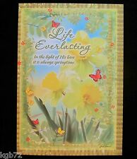 Leanin Tree Easter Greeting Card Yellow Green Floral Flowers Multi Color E2