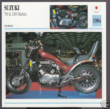 1984 Suzuki 700cc & 1200cc Madura Japan Bike Motorcycle Photo Spec Info Card
