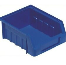 20  NEW PLASTIC STACKING PARTS STORAGE BINS BOXES SIZE 1 BLUE