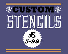 custom stencil A4 - personalised - supply jpeg or pdf or logo
