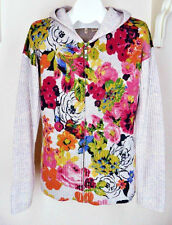 Moth Anthropologie Hothouse Zip-up Floral Cardigan Sz L Hoodie Sweater