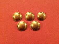 20mm Hollow Domed Brass Buttons (5 Pack) - Re-Enactment, Costume, Living History