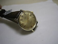 OMEGA SEAMASTER DEVILLE DATE 14 K SOLID YELLOW GOLD HAND WINDING S/S 1964 WATCH