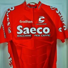 Saeco Cannondale Ballan Cycling Jersey Mens Size L Team Machine Per Caffe Marino