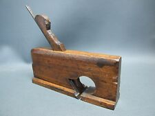"""Wooden small 1 7/16"""" T rebate plane vintage old tool by Varvill & Sons"""