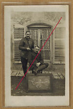 Carte Photo vintage card RPPC métier coiffeur homme ph0371