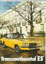 VAUXHALL TRANSCONTINENTAL ( VICTOR) ES 1800 & 2300 SALE BROCHURE 1973 INC.PRICES