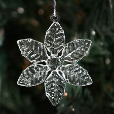 Clear Glass Snowflakes- 6 Different Styles- Christmas Ornaments/Decorations