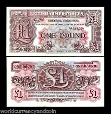 GREAT BRITAIN UK 1 POUND 1948 BRITISH MPC ARMED FORCE UNC CURRENCY NOTE FreeShip