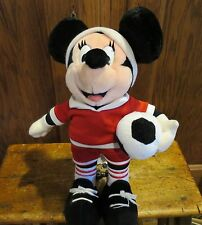 Vtg Mickey Mouse With Soccer Ball Doll Plush Figure Disney World